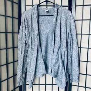 Old Navy Active gray open front cardigan hoodie